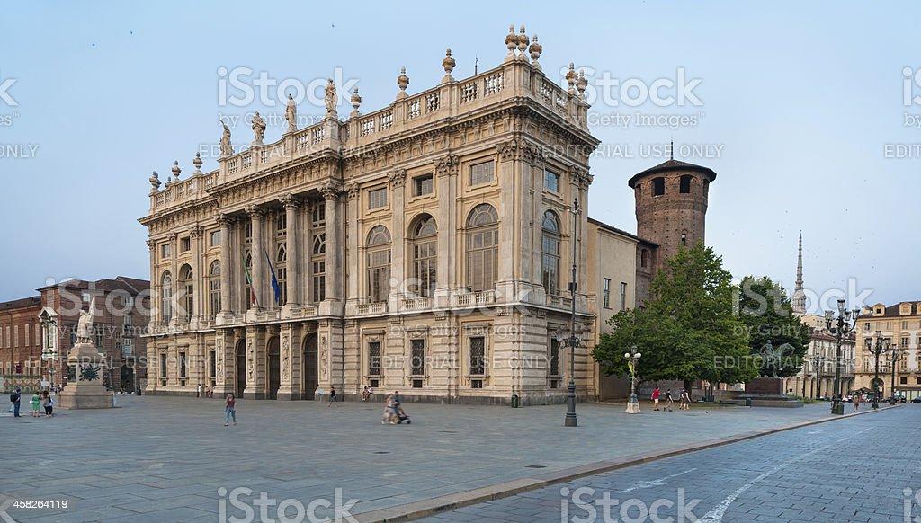 Palazzo Madama in Castle square, piazza Castello, Turin stock photo