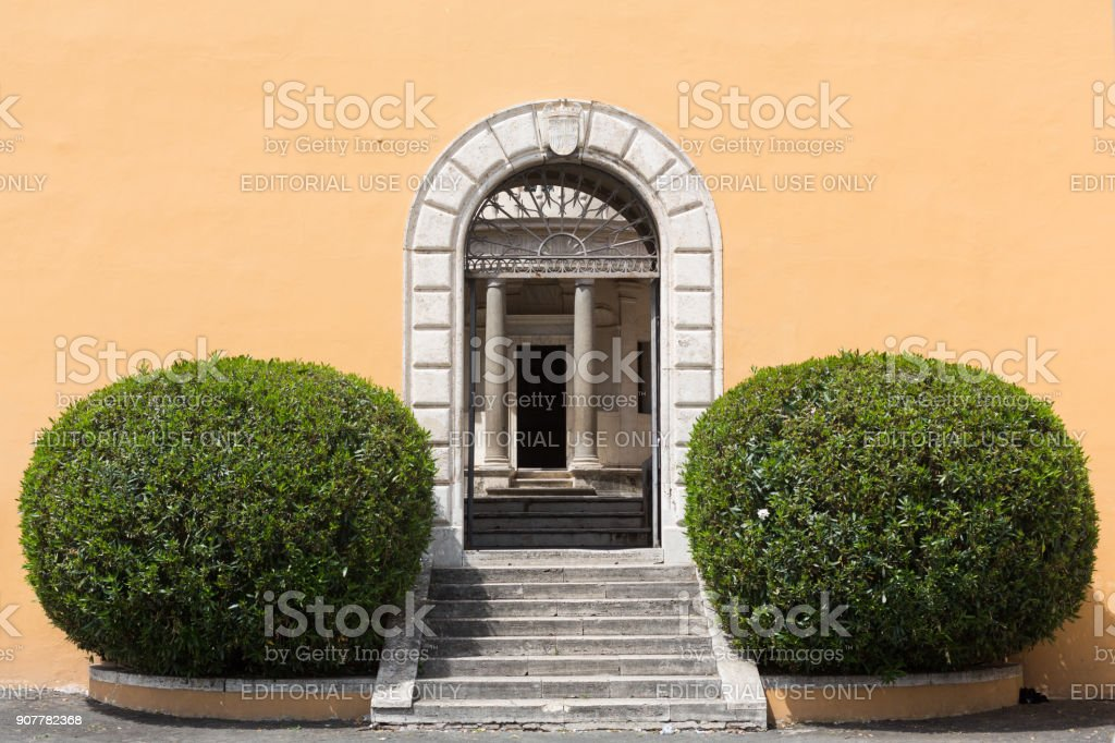 Palazzo Montorio on Janiculum Hill in Rome, Italy stock photo