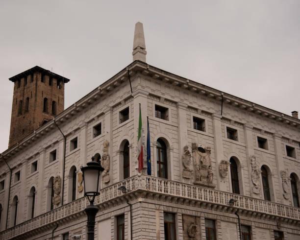 Palazzo Podestà seat of the Municipality of Padua in Piazza delle Erbe Padua, Italy. stock photo