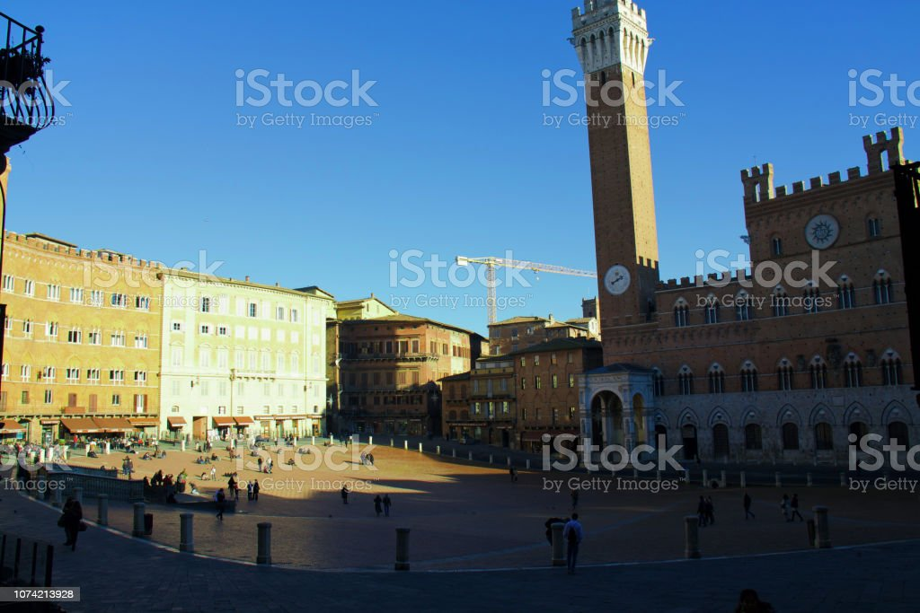 Palazzo Pubblico, town hall стоковое фото