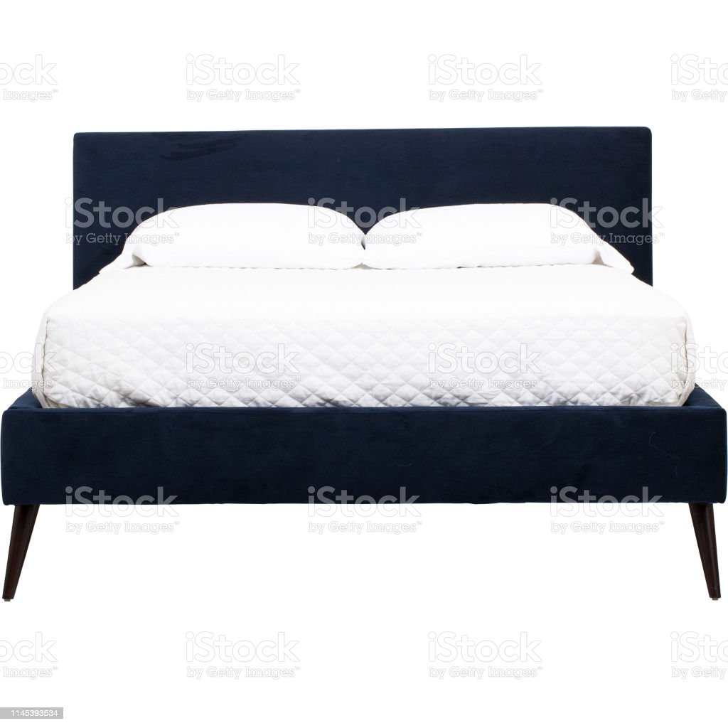 Palazzo Queen Size Bed With White Mattress Low Profile Bed Frame Low Profile Queen Tufted Bed Frame King With White Background Stock Photo Download Image Now Istock