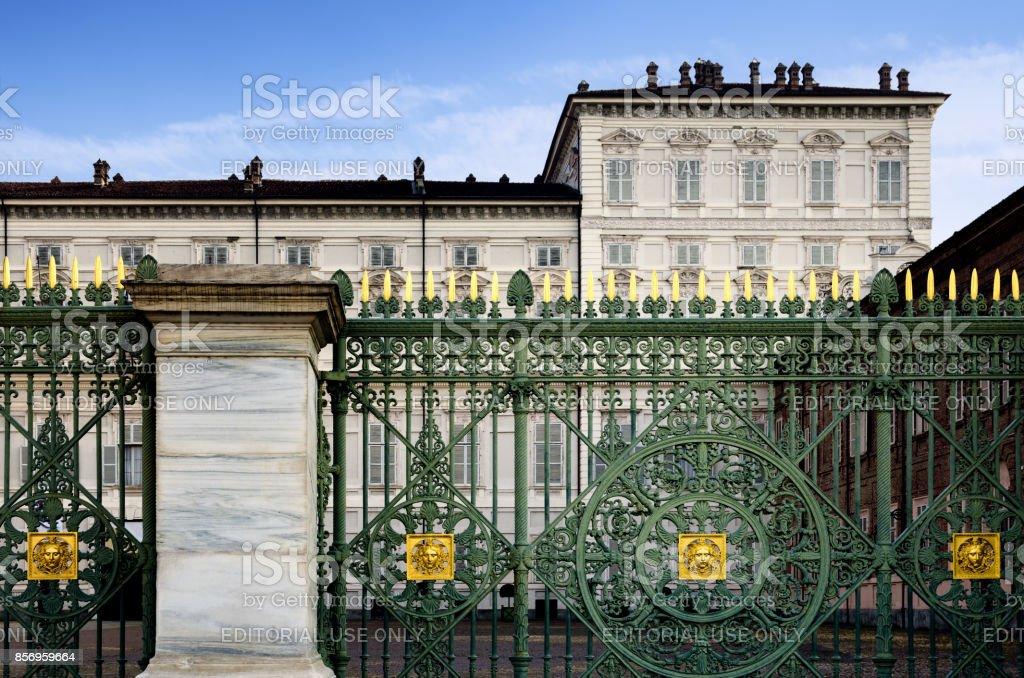 Palazzo Reale (Royal Palace) of Turin, Piedmont (Italy) stock photo