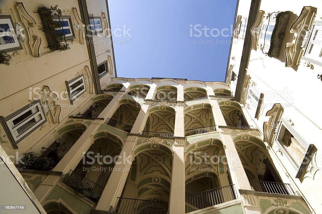Palazzo Sanfelice, Naples, Italy. royalty-free stock photo