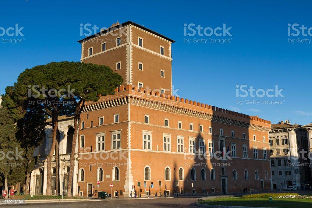 Palazzo Venezia in the early morning light royalty-free stock photo