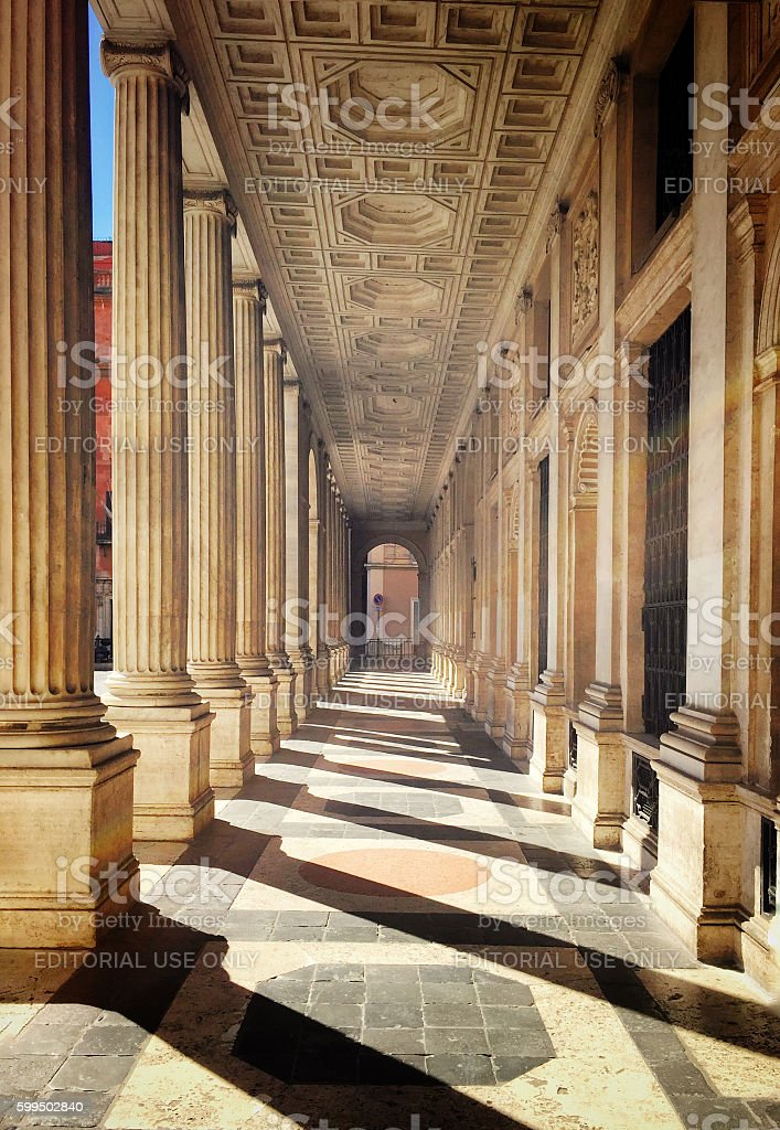 Palazzo wedekind in Rome stock photo