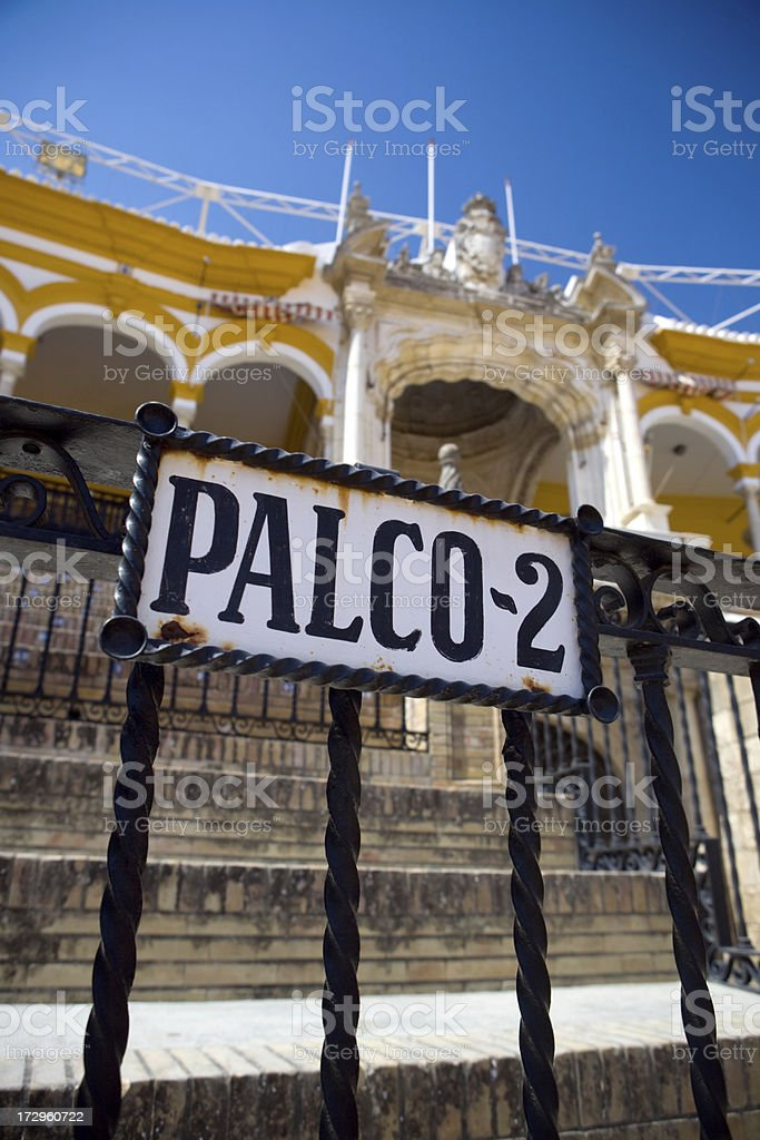 Palco of the Arena royalty-free stock photo