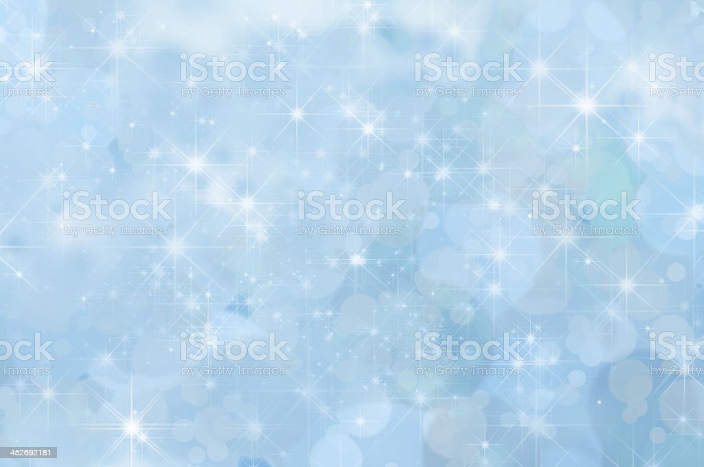 Pale Blue Abstract Star Background stock photo