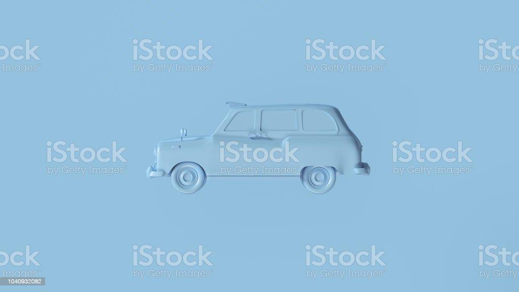 Pale Blue Black Cab stock photo