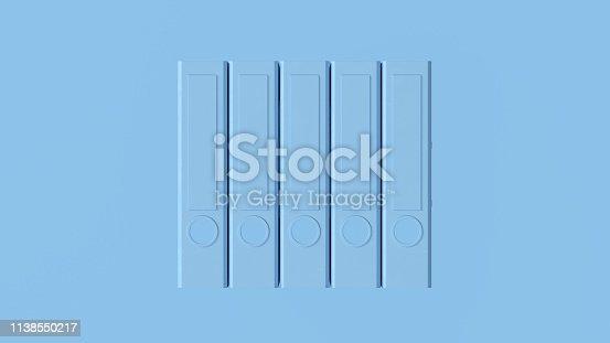 istock Pale Blue Office Ring Binders 1138550217