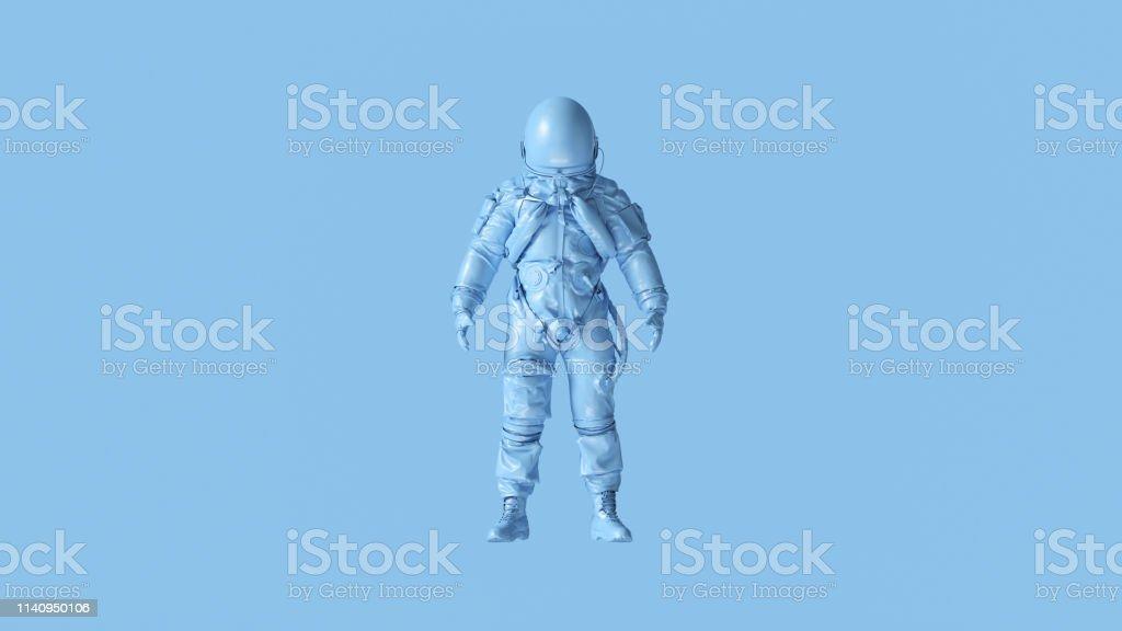 Pale Blue Spaceman Astronaut Cosmonaut Advanced Crew Escape Suit