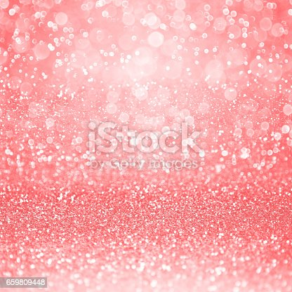 istock Pale Coral Pink Glitter Girly Birthday Party Background 659809448