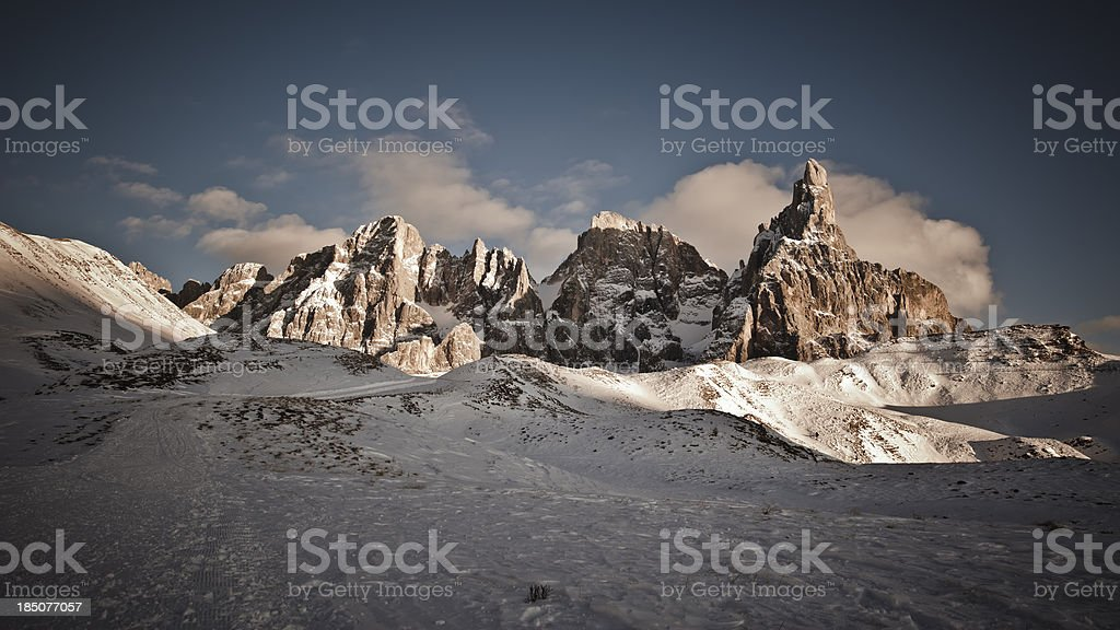 Pale di San Martino (Dolomites, Italy) royalty-free stock photo