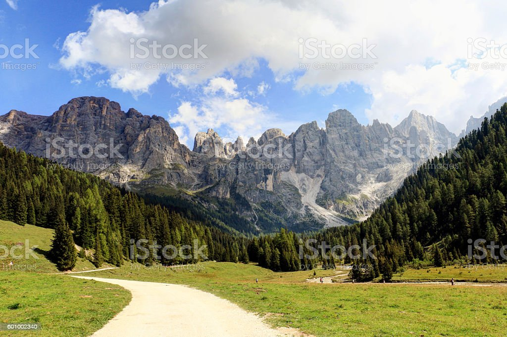 Pale di San Martino (Italia) stock photo