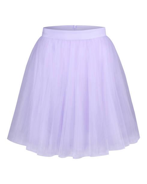 blassen lila violett glamour ballerina tüllrock isoliert auf weiss - tüllkleid stock-fotos und bilder