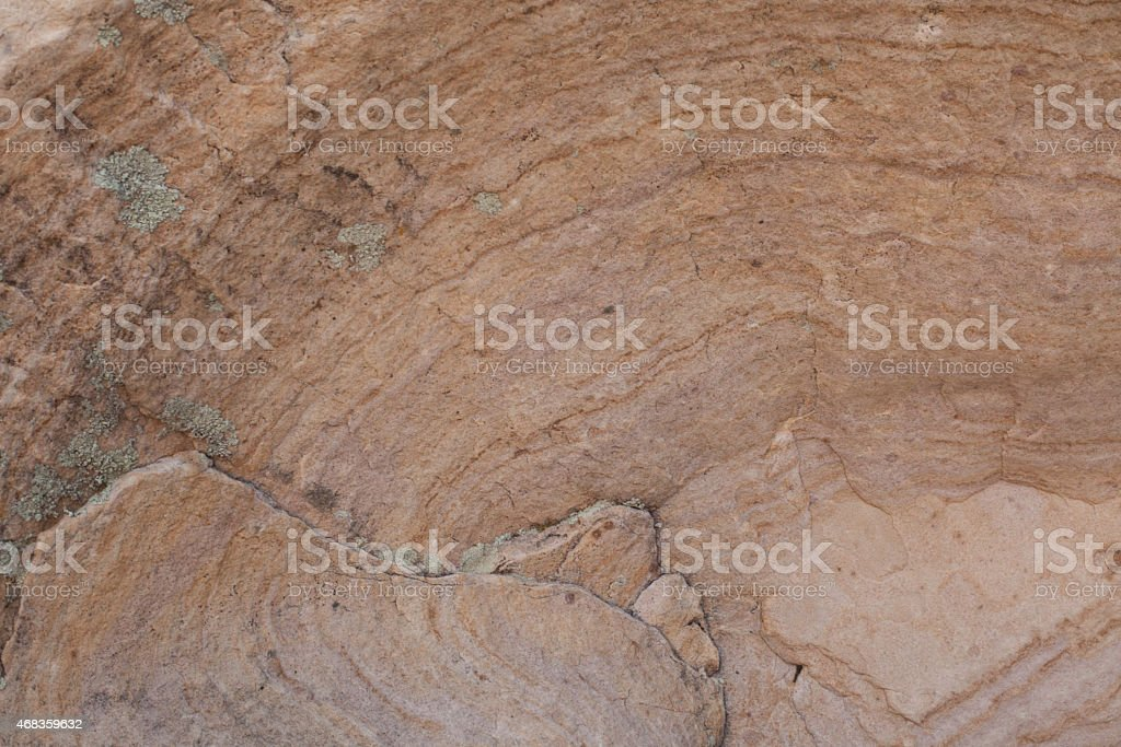 Pale orange desert rock wall royalty-free stock photo