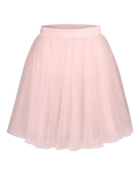 blass rosa glamour ballerina tüllrock isoliert auf weiss - tüllkleid stock-fotos und bilder