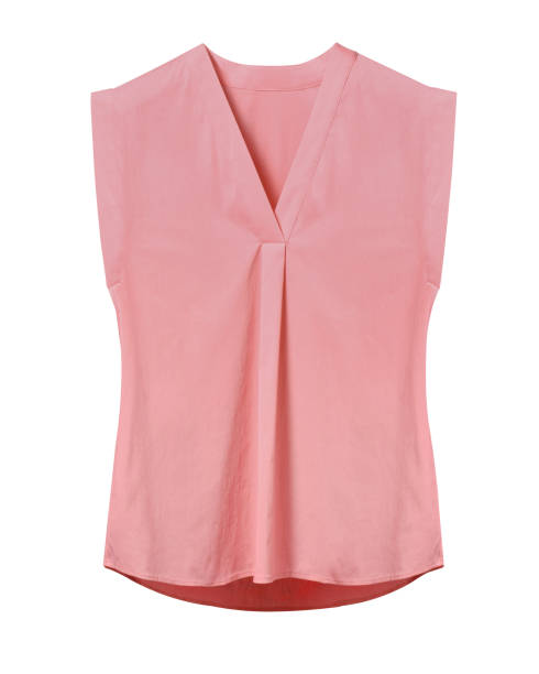 Pale pink rose elegant woman summer sleeveless office blouse isolated on white Pale pink rose elegant woman summer sleeveless office blouse isolated on white blouse stock pictures, royalty-free photos & images