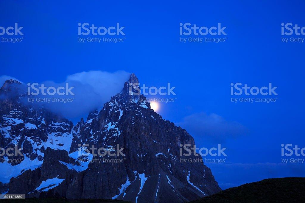 Pale San Martino mountain peaks (Dolomity, Italy). stock photo