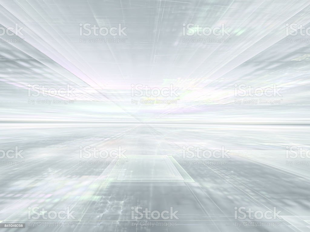 Pale textured surface stretches to horizon stock photo