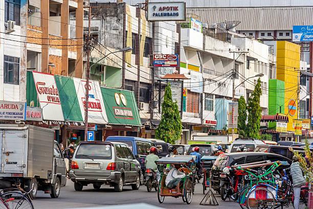 Palembang High Street stock photo