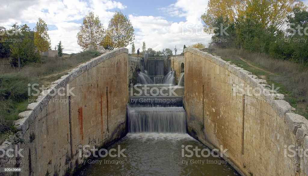 Canal Palencia stock photo