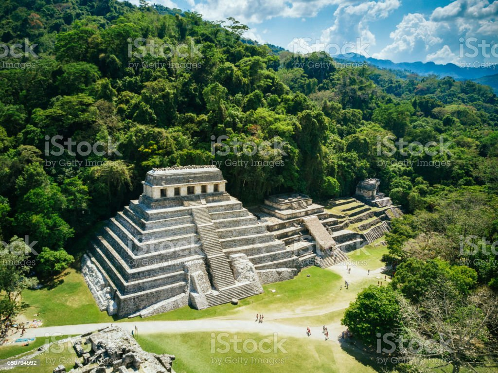 Palenque Chiapas Mexico stock photo