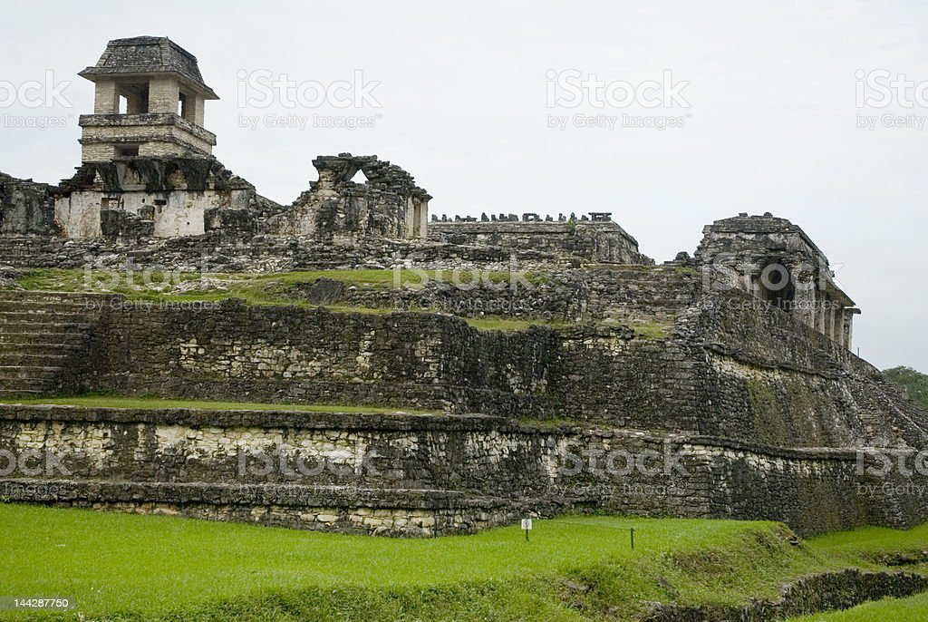 Palenque ruins in Chiapas royalty-free stock photo