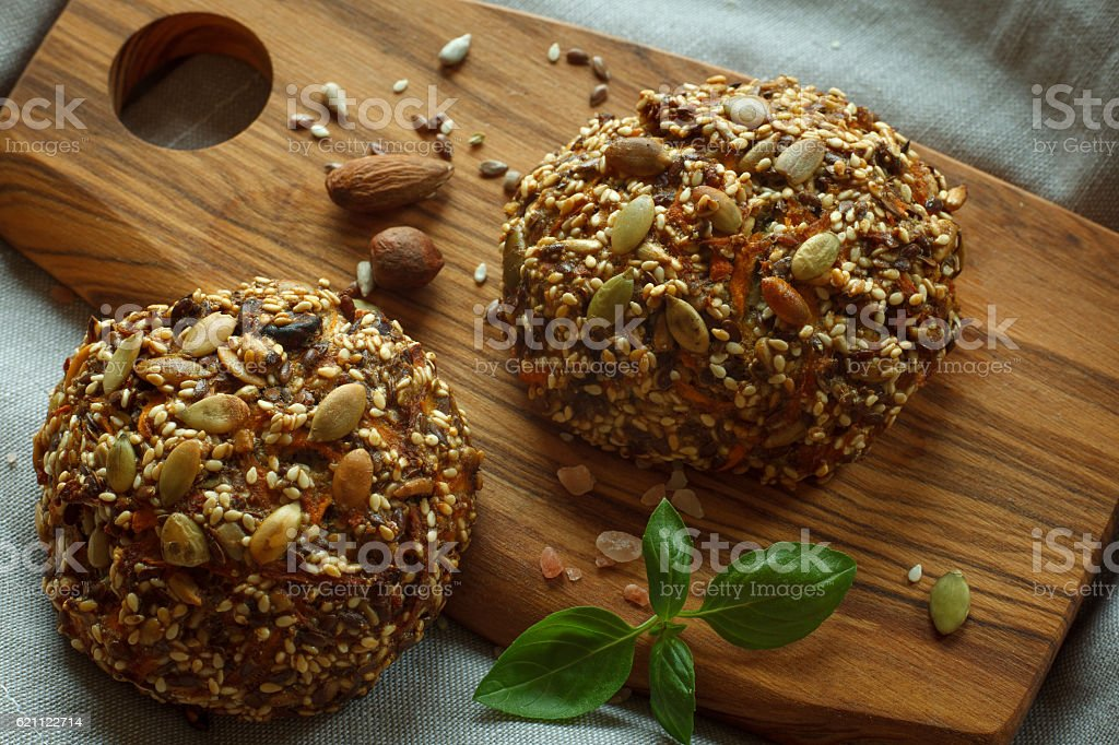 Paleo buns stock photo