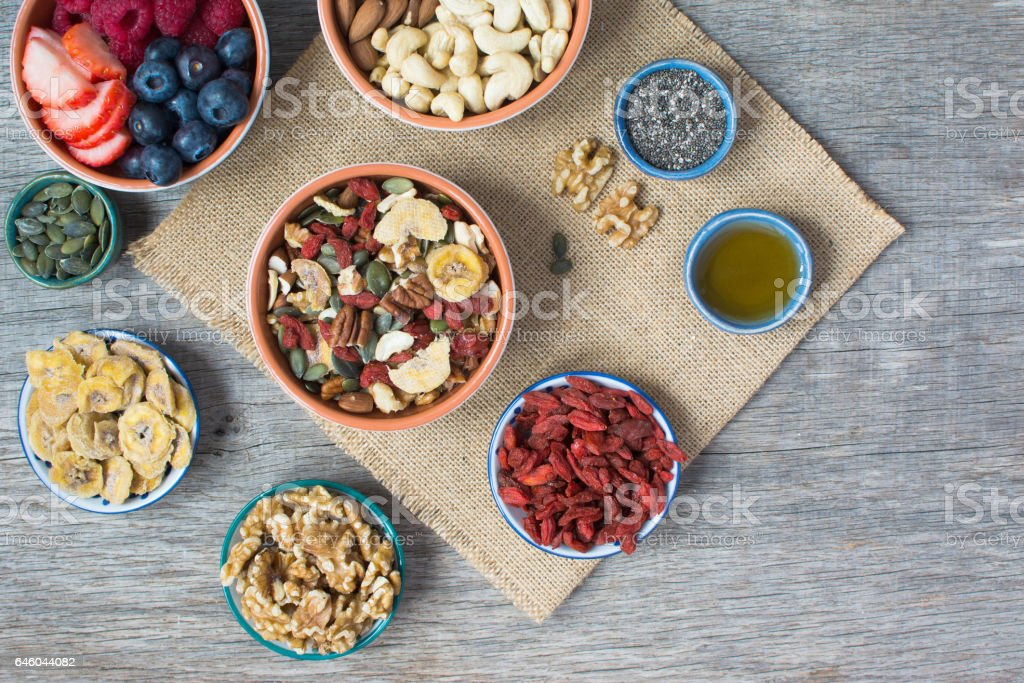 Paleo style breakfast stock photo