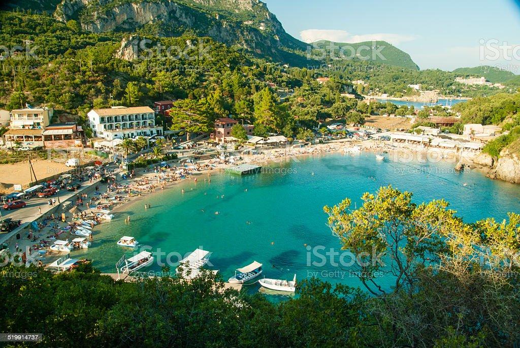 Paleokastritsa bay, Corfu Island, Greece stock photo