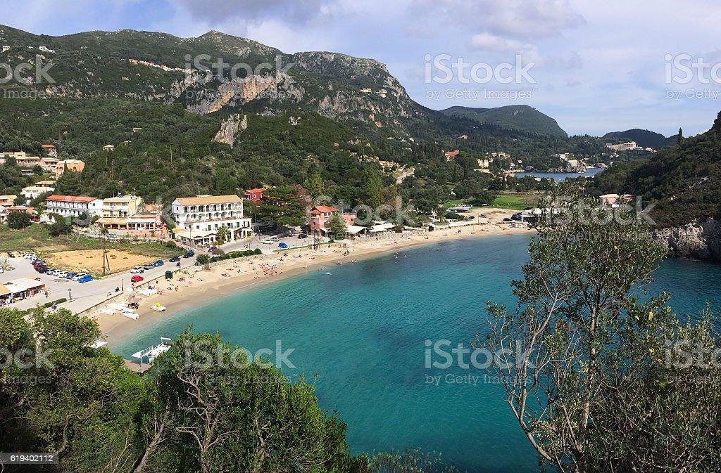 Paleokastritsa, Corfu, Greece stock photo
