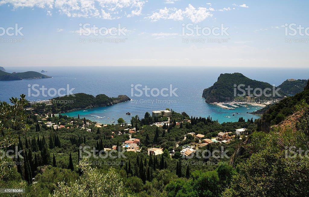 Paleokastritsa, Corfu Island stock photo