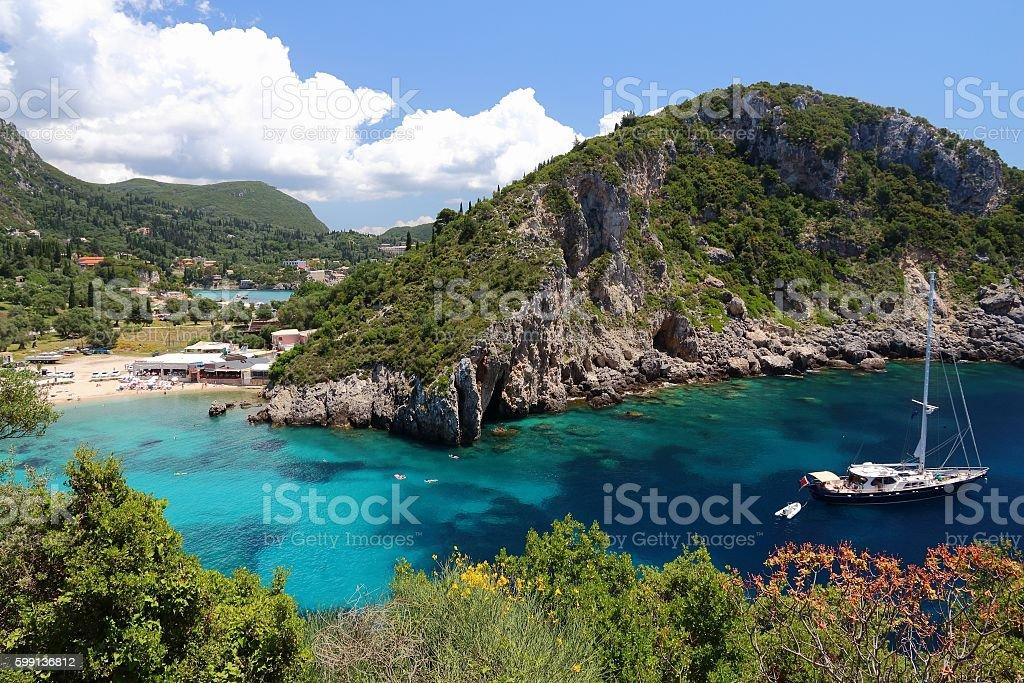 Paleokastritsa, Corfu stock photo