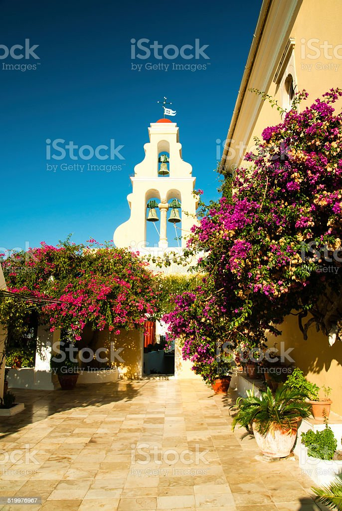 Paleokastritsa Monastery, Corfu Island, Greece stock photo