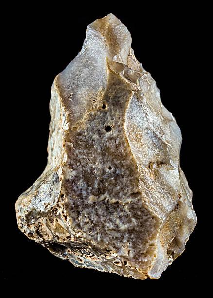 Paleolithic hand ax stock photo