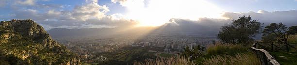 Palermo al tramonto - foto stock