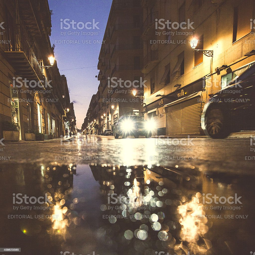 Palermo by night. royalty-free stock photo