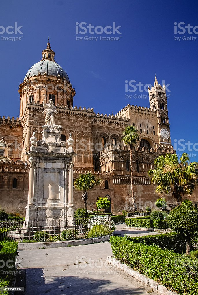 Palermo Catherdral royalty-free stock photo