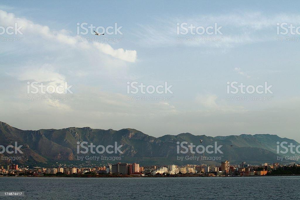 Palermo cityscape royalty-free stock photo