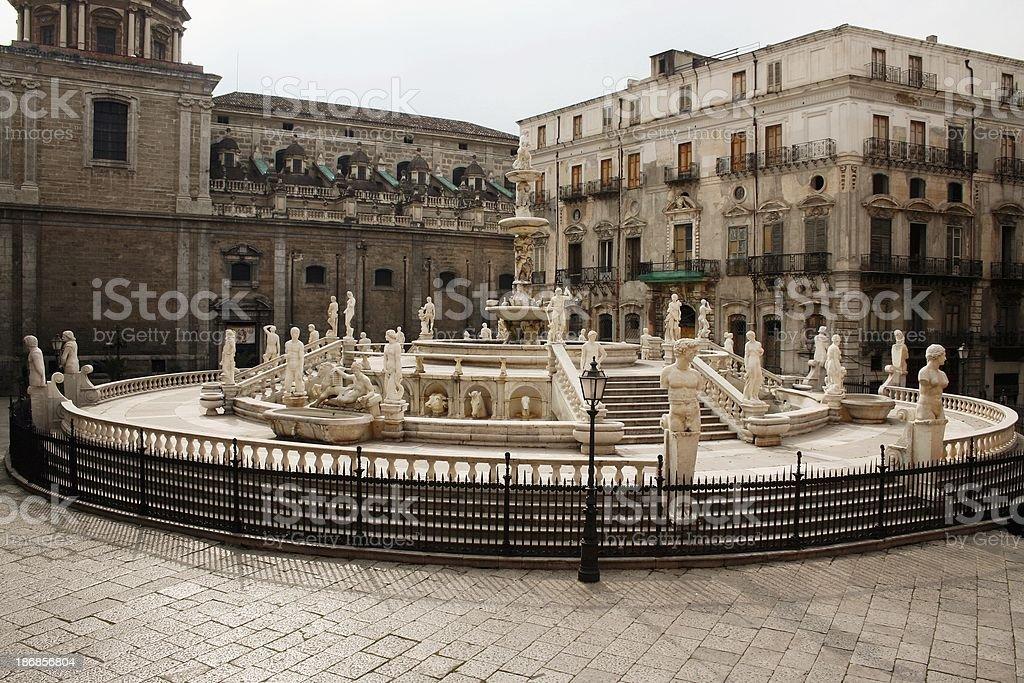 Palermo fountain royalty-free stock photo