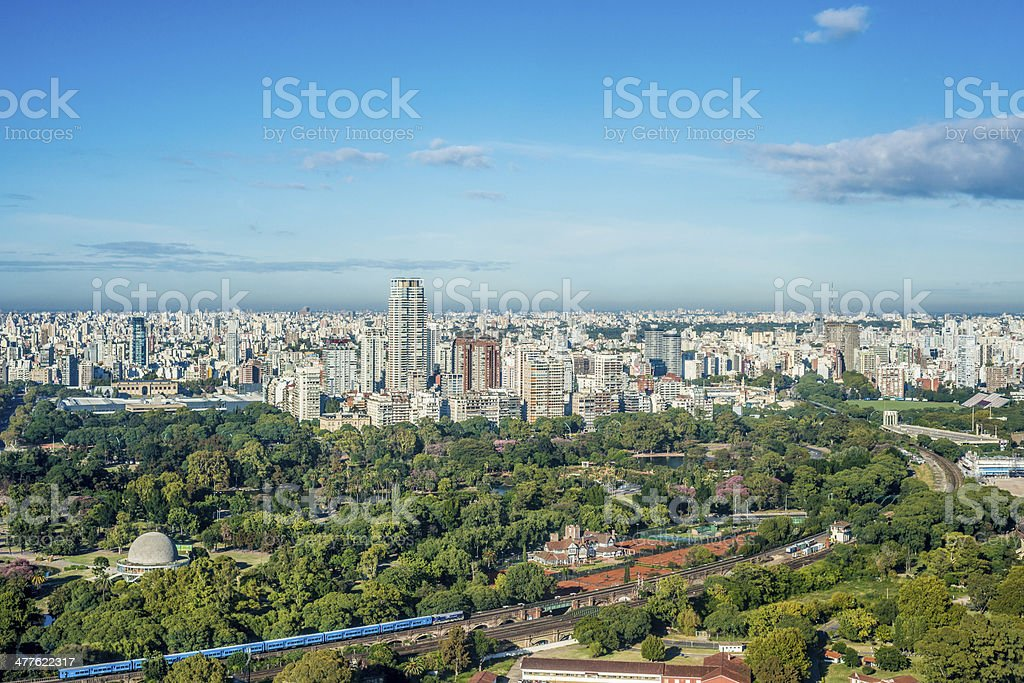 Palermo gardens in Buenos Aires, Argentina. stock photo