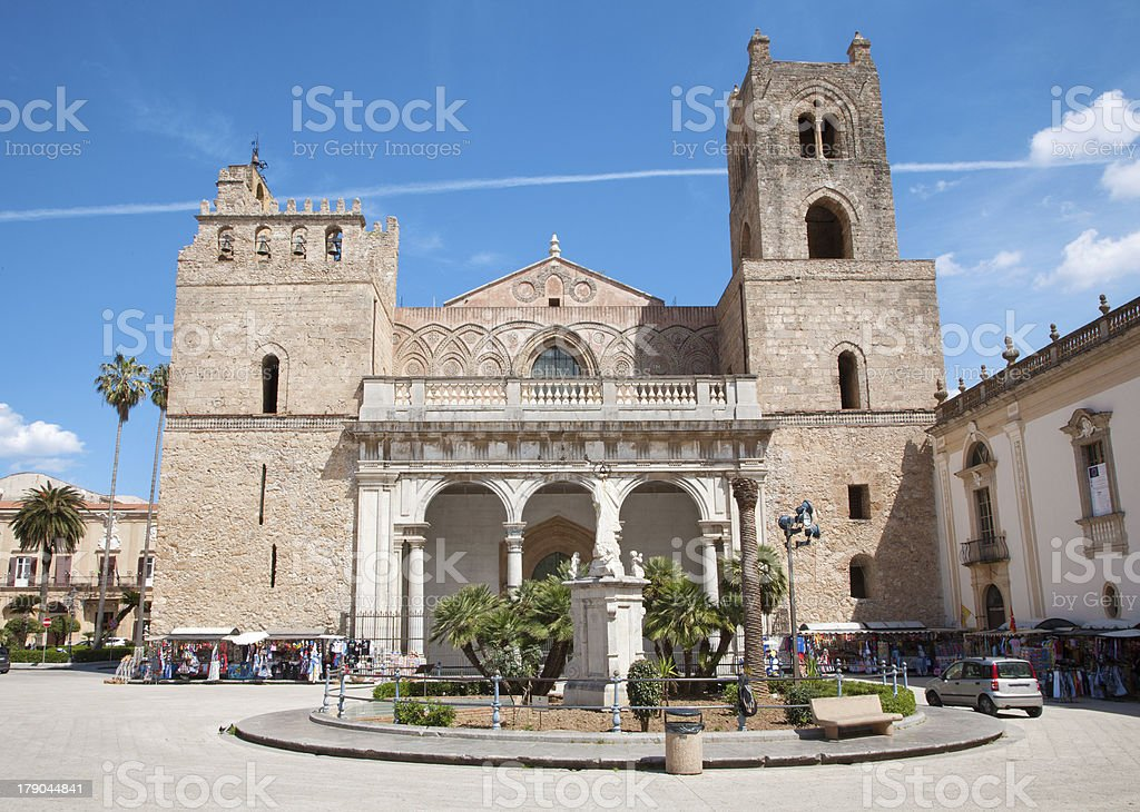 Palermo - Monreale cathedral stock photo