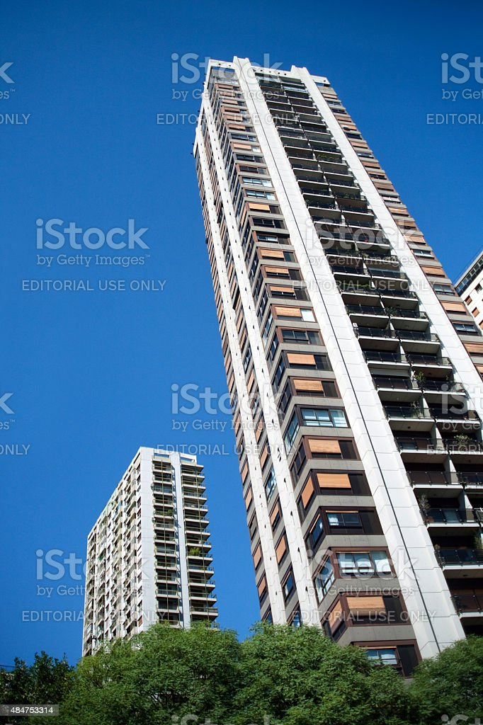 Bairro de Palermo edifícios residenciais em Buenos Aires, Argentina - foto de acervo