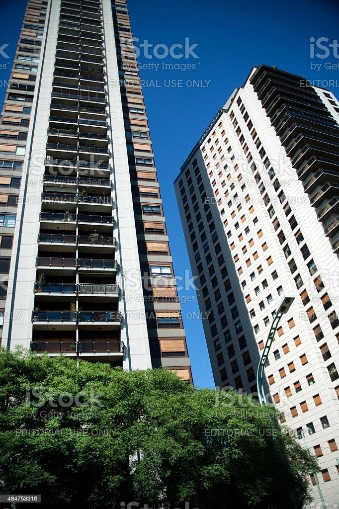 Bairro de Palermo edifícios residenciais em Buenos Aires, Argentina foto royalty-free