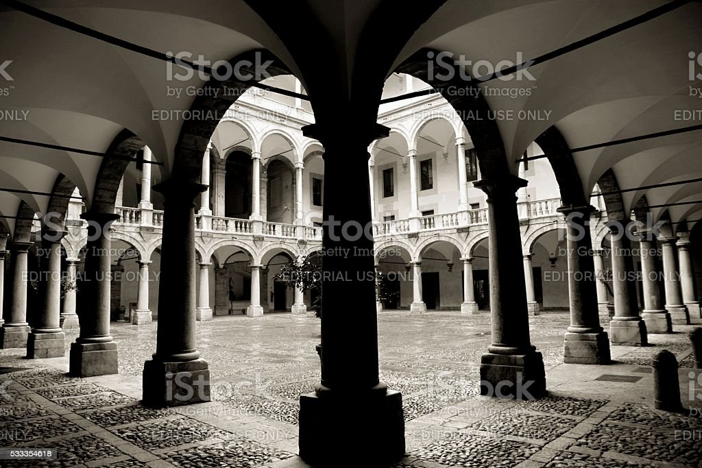 Palermo Sicily former Royal Palace Palazzo dei Normanni stock photo