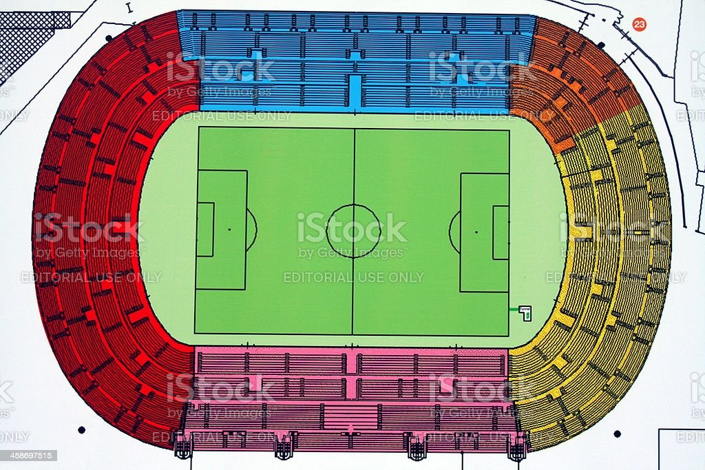 Palermo soccer stadium plan stock photo