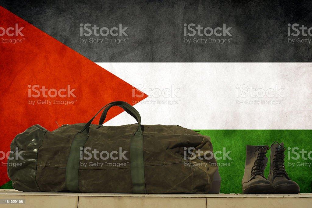 Palestine flag stock photo