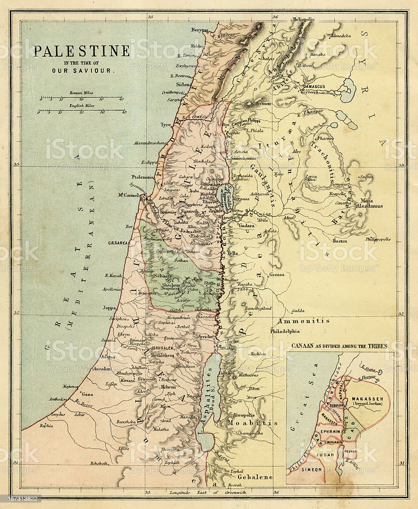 Palestine in the Time of Our Saviour stock photo