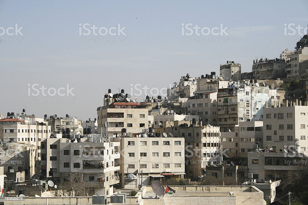 Palestinian buildings. stock photo