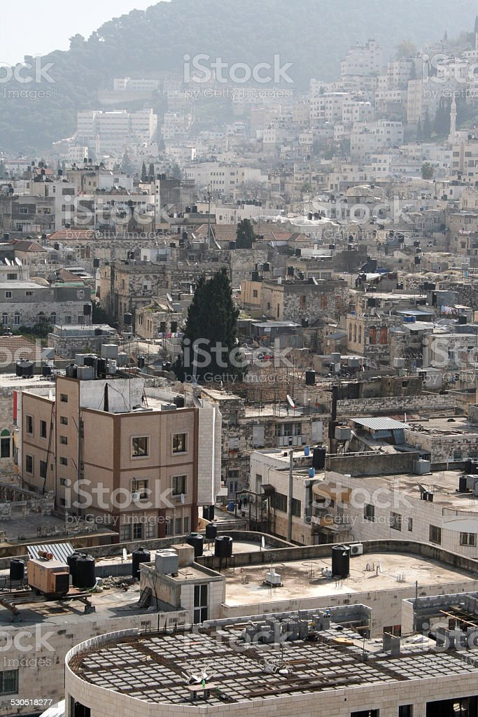 Palestinian city. stock photo